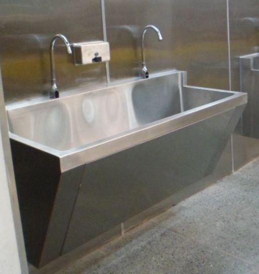 Lavamanos quir rgico dos puestos - Grifos para lavamanos ...